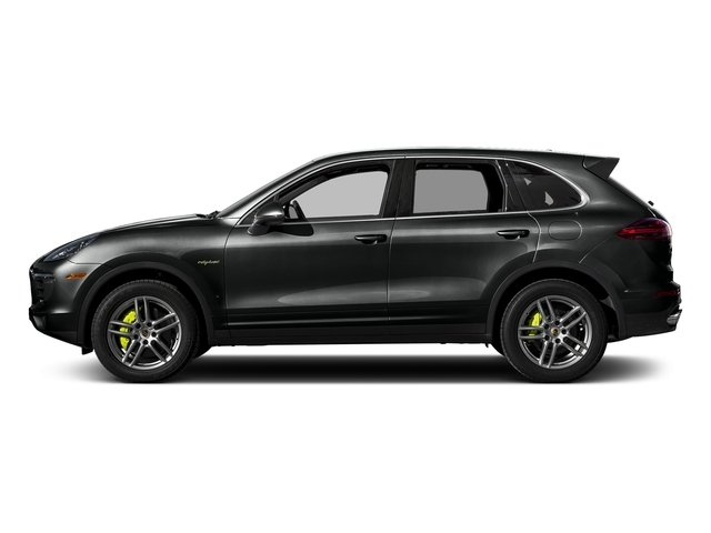 Jet Black Metallic 2017 Porsche Cayenne Pictures Cayenne S E-Hybrid AWD photos side view