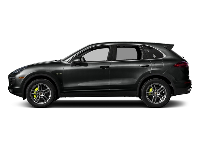 Jet Black Metallic 2017 Porsche Cayenne Pictures Cayenne S E-Hybrid Platinum Edition AWD photos side view