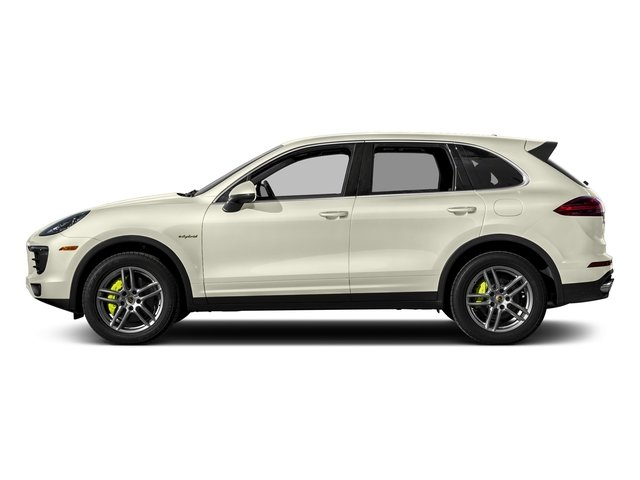 Carrara White Metallic 2017 Porsche Cayenne Pictures Cayenne S E-Hybrid Platinum Edition AWD photos side view