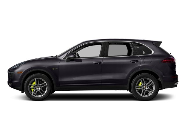 Purpurite Metallic 2017 Porsche Cayenne Pictures Cayenne S E-Hybrid Platinum Edition AWD photos side view
