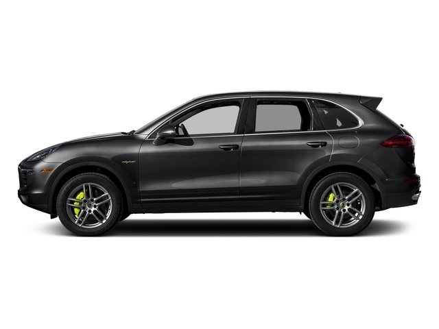 Black 2017 Porsche Cayenne Pictures Cayenne S E-Hybrid Platinum Edition AWD photos side view
