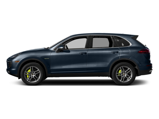 Moonlight Blue Metallic 2017 Porsche Cayenne Pictures Cayenne S E-Hybrid AWD photos side view