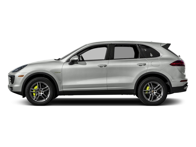 Rhodium Silver Metallic 2017 Porsche Cayenne Pictures Cayenne S E-Hybrid Platinum Edition AWD photos side view