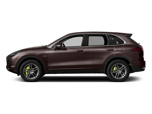 Mahogany Metallic 2017 Porsche Cayenne Pictures Cayenne S E-Hybrid Platinum Edition AWD photos side view