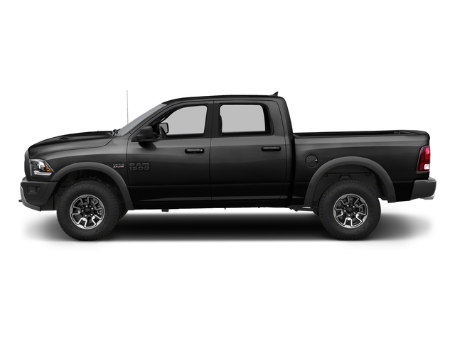 Brilliant Black Crystal Pearlcoat 2017 Ram Truck 1500 Pictures 1500 Rebel 4x2 Crew Cab 5'7 Box photos side view