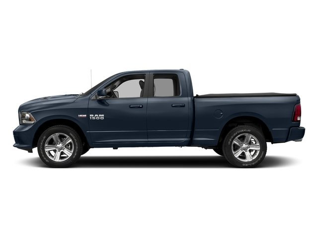 True Blue Pearlcoat 2017 Ram Truck 1500 Pictures 1500 Night 4x2 Quad Cab 6'4 Box photos side view