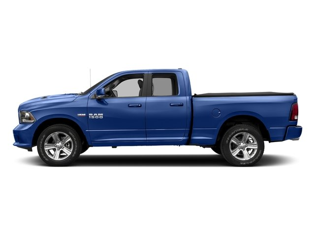 Blue Streak Pearlcoat 2017 Ram Truck 1500 Pictures 1500 Night 4x2 Quad Cab 6'4 Box photos side view