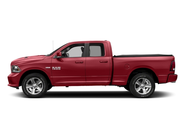 Flame Red Clearcoat 2017 Ram Truck 1500 Pictures 1500 Night 4x2 Quad Cab 6'4 Box photos side view