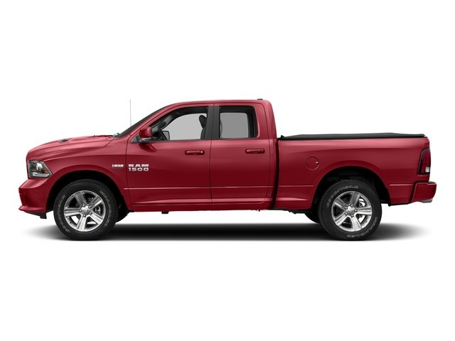 Flame Red Clearcoat 2017 Ram Truck 1500 Pictures 1500 Night 4x4 Quad Cab 6'4 Box photos side view