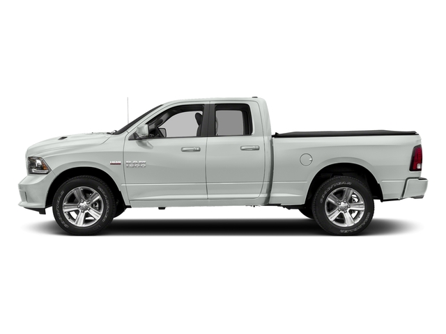 Bright White Clearcoat 2017 Ram Truck 1500 Pictures 1500 Night 4x4 Quad Cab 6'4 Box photos side view