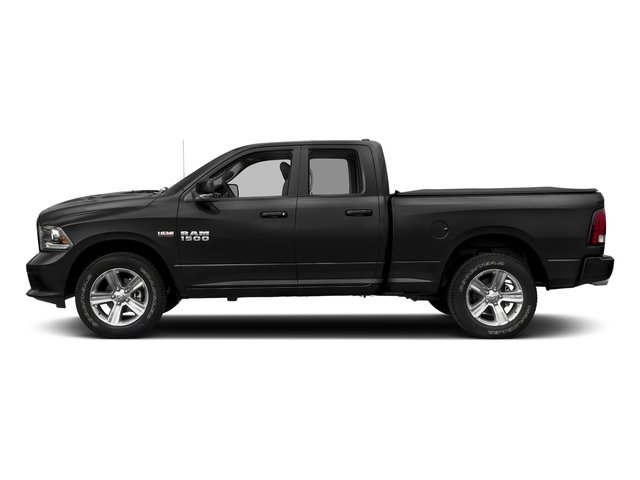Brilliant Black Crystal Pearlcoat 2017 Ram Truck 1500 Pictures 1500 Night 4x2 Quad Cab 6'4 Box photos side view