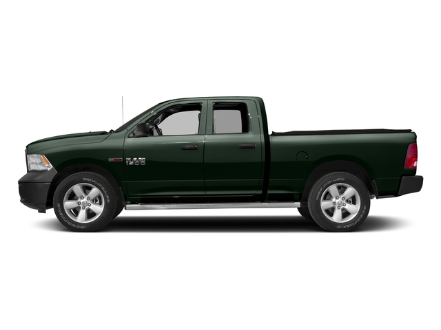 Black Forest Green Pearlcoat 2017 Ram Truck 1500 Pictures 1500 HFE 4x2 Quad Cab 6'4 Box photos side view