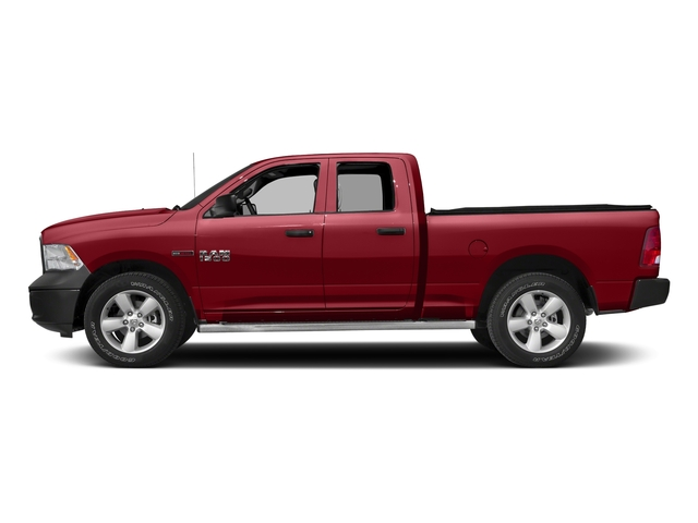 Flame Red Clearcoat 2017 Ram Truck 1500 Pictures 1500 Quad Cab HFE 2WD V6 T-Diesel photos side view