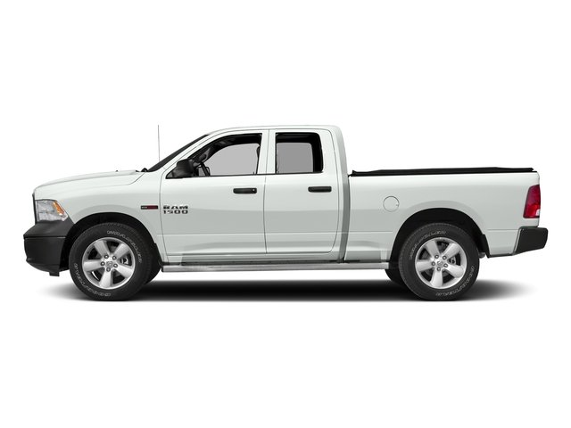 Bright White Clearcoat 2017 Ram Truck 1500 Pictures 1500 Quad Cab HFE 2WD V6 T-Diesel photos side view