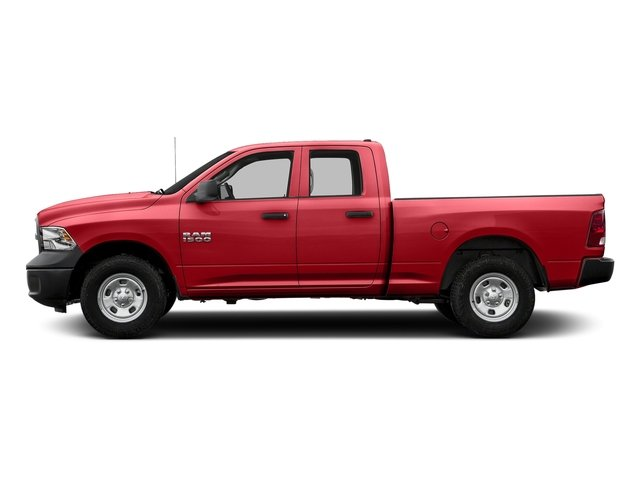 Bright Red 2017 Ram Truck 1500 Pictures 1500 Quad Cab Express 2WD photos side view