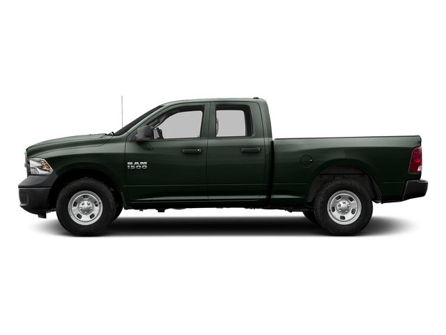 Black Forest Green Pearlcoat 2017 Ram Truck 1500 Pictures 1500 Quad Cab Express 2WD photos side view