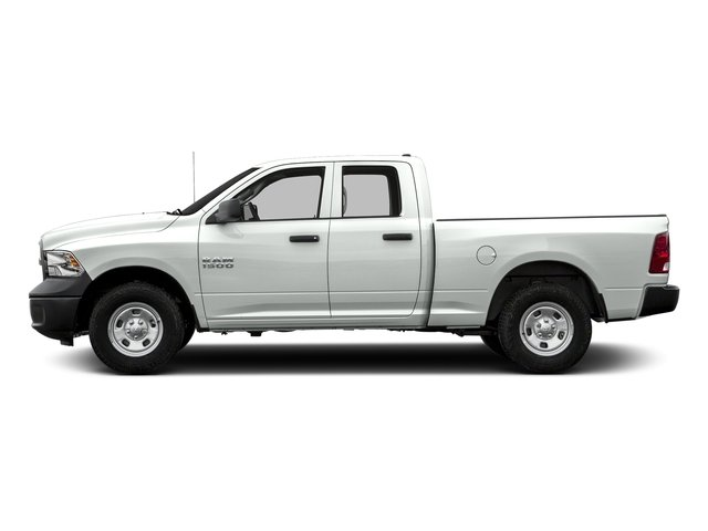 Bright White Clearcoat 2017 Ram Truck 1500 Pictures 1500 Quad Cab Express 2WD photos side view