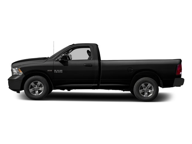 Brilliant Black Crystal Pearlcoat 2017 Ram Truck 1500 Pictures 1500 Lone Star 4x2 Regular Cab 6'4 Box photos side view