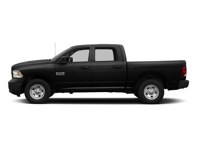 Brilliant Black Crystal Pearlcoat 2017 Ram Truck 1500 Pictures 1500 Tradesman 4x4 Crew Cab 5'7 Box photos side view