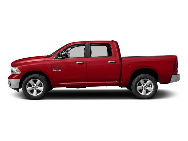 Bright Red 2017 Ram Truck 1500 Pictures 1500 Big Horn 4x2 Crew Cab 6'4 Box photos side view