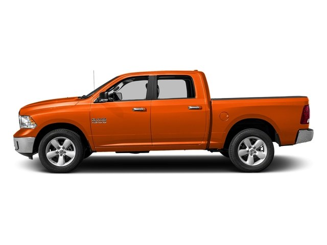 Omaha Orange 2017 Ram Truck 1500 Pictures 1500 Big Horn 4x2 Crew Cab 6'4 Box photos side view