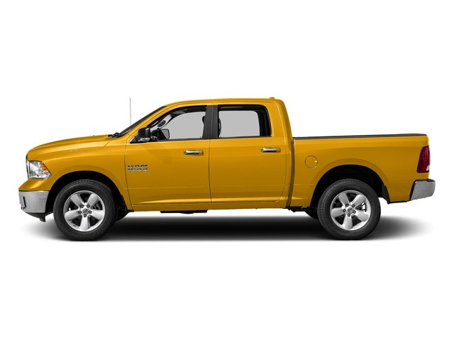 Construction Yellow 2017 Ram Truck 1500 Pictures 1500 Big Horn 4x2 Crew Cab 6'4 Box photos side view
