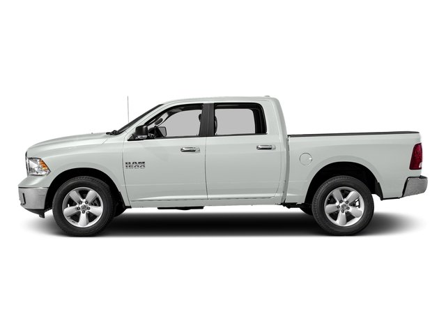 Bright White Clearcoat 2017 Ram Truck 1500 Pictures 1500 Big Horn 4x2 Crew Cab 6'4 Box photos side view