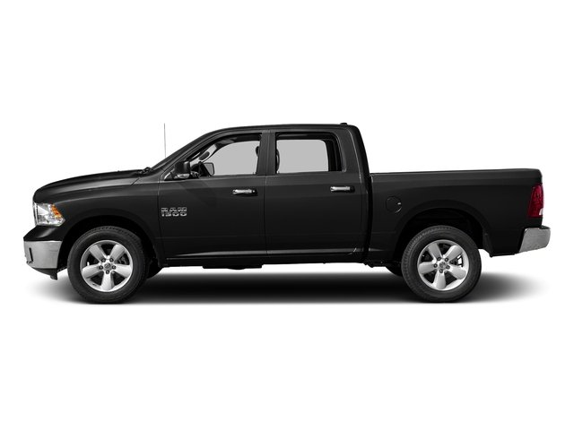 Brilliant Black Crystal Pearlcoat 2017 Ram Truck 1500 Pictures 1500 Crew Cab SLT 4WD photos side view