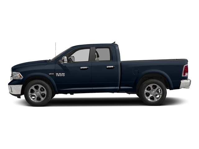 True Blue Pearlcoat 2017 Ram Truck 1500 Pictures 1500 Laramie 4x4 Quad Cab 6'4 Box photos side view
