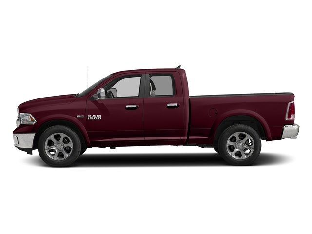 Delmonico Red Pearlcoat 2017 Ram Truck 1500 Pictures 1500 Laramie 4x4 Quad Cab 6'4 Box photos side view
