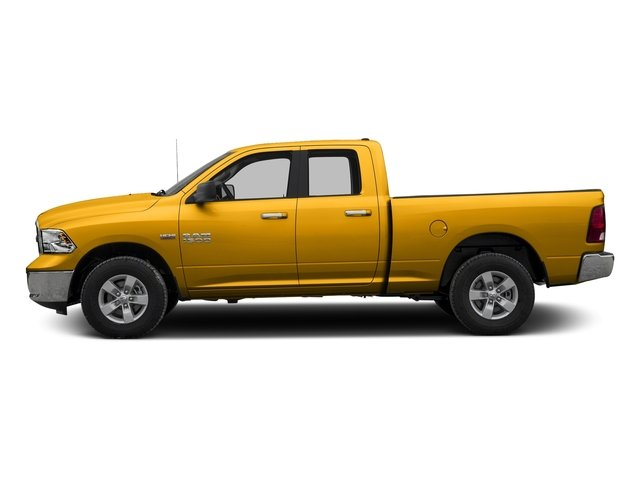 Construction Yellow 2017 Ram Truck 1500 Pictures 1500 Quad Cab Bighorn/Lone Star 2WD photos side view