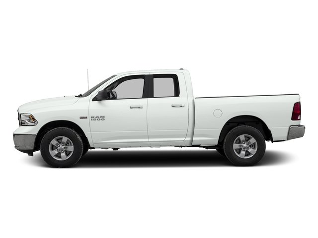Bright White Clearcoat 2017 Ram Truck 1500 Pictures 1500 Quad Cab SLT 2WD photos side view