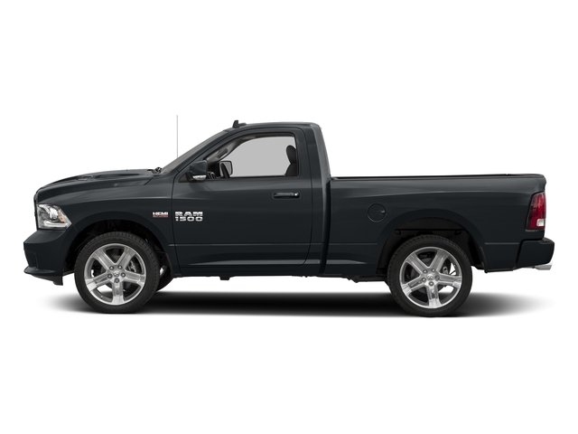 Maximum Steel Metallic Clearcoat 2017 Ram Truck 1500 Pictures 1500 Night 4x4 Regular Cab 6'4 Box photos side view