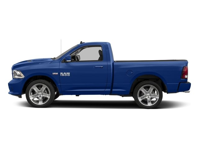 Blue Streak Pearlcoat 2017 Ram Truck 1500 Pictures 1500 Night 4x4 Regular Cab 6'4 Box photos side view