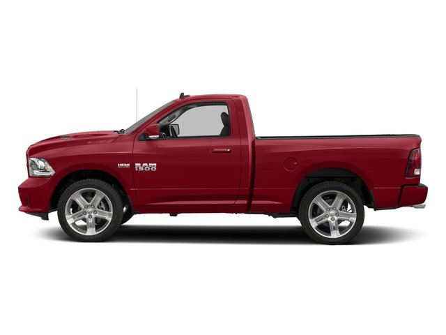 Flame Red Clearcoat 2017 Ram Truck 1500 Pictures 1500 Night 4x2 Regular Cab 6'4 Box photos side view