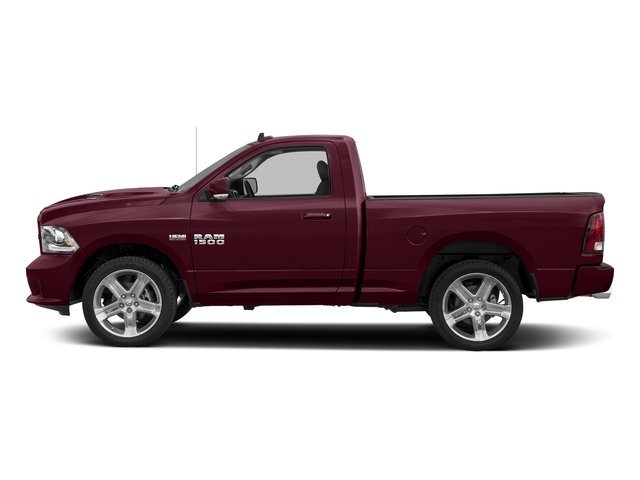 Delmonico Red Pearlcoat 2017 Ram Truck 1500 Pictures 1500 Night 4x4 Regular Cab 6'4 Box photos side view