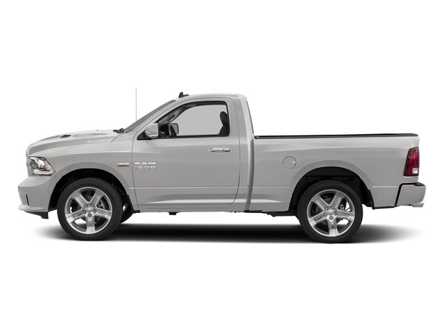 Bright Silver Metallic Clearcoat 2017 Ram Truck 1500 Pictures 1500 Night 4x2 Regular Cab 6'4 Box photos side view