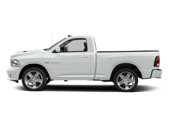 Bright White Clearcoat 2017 Ram Truck 1500 Pictures 1500 Night 4x2 Regular Cab 6'4 Box photos side view