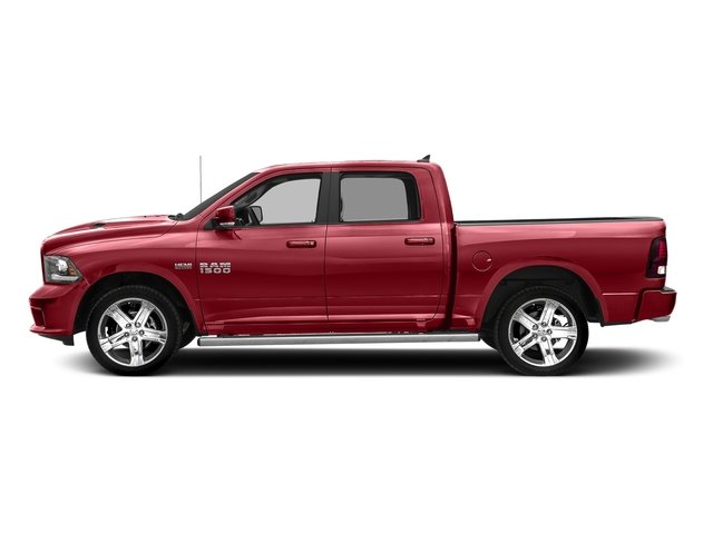 Flame Red Clearcoat 2017 Ram Truck 1500 Pictures 1500 Night 4x2 Crew Cab 5'7 Box photos side view