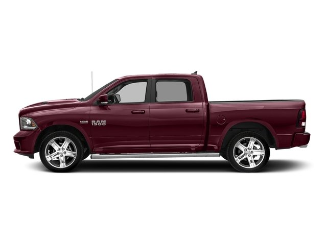 Delmonico Red Pearlcoat 2017 Ram Truck 1500 Pictures 1500 Crew Cab Sport 4WD photos side view