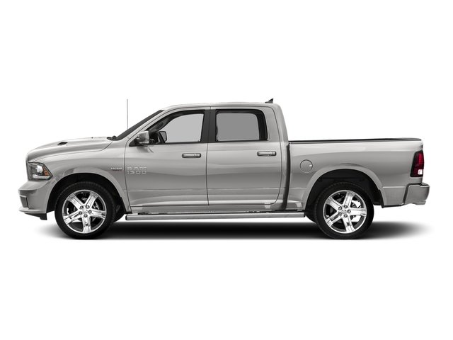 Bright Silver Metallic Clearcoat 2017 Ram Truck 1500 Pictures 1500 Night 4x2 Crew Cab 5'7 Box photos side view