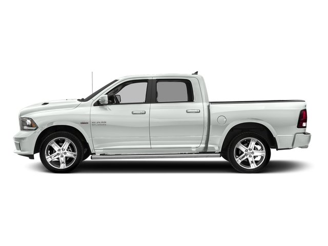 Bright White Clearcoat 2017 Ram Truck 1500 Pictures 1500 Crew Cab Sport 4WD photos side view