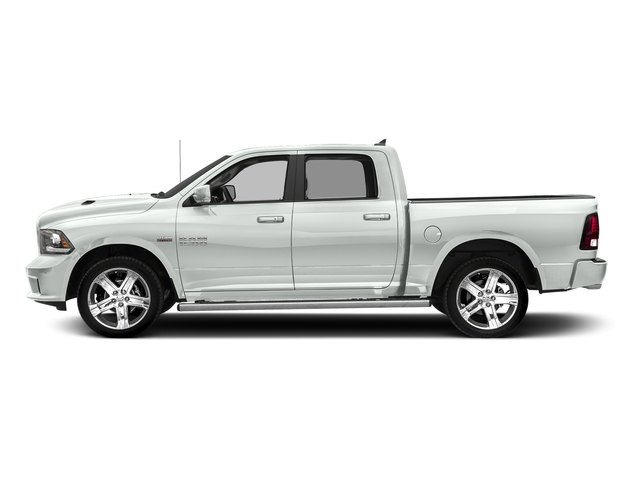 Bright White Clearcoat 2017 Ram Truck 1500 Pictures 1500 Night 4x2 Crew Cab 5'7 Box photos side view
