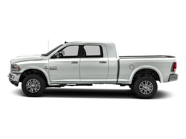 Bright White Clearcoat 2017 Ram Truck 2500 Pictures 2500 Mega Cab Laramie 4WD photos side view
