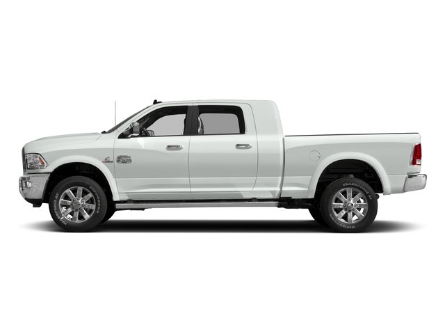 Bright White Clearcoat 2017 Ram Truck 2500 Pictures 2500 Mega Cab Limited 2WD photos side view