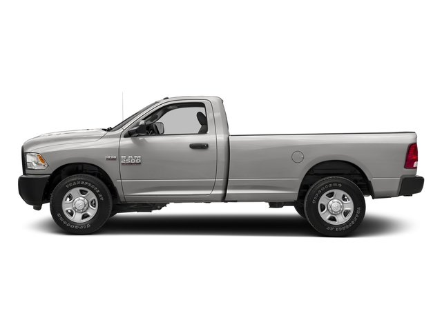 Bright Silver Metallic Clearcoat 2017 Ram Truck 2500 Pictures 2500 SLT 4x4 Reg Cab 8' Box photos side view