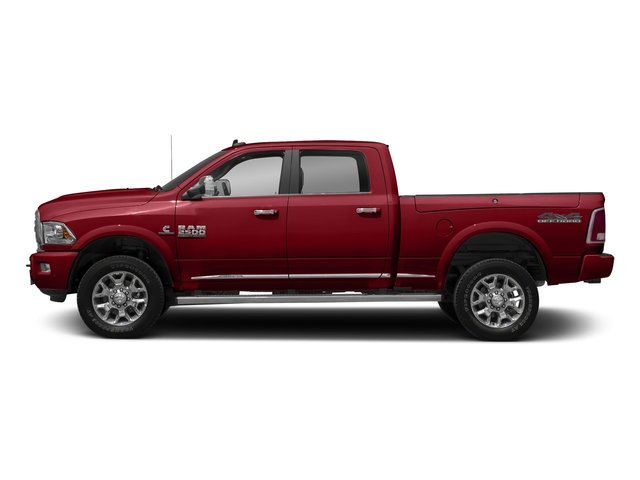 Flame Red Clearcoat 2017 Ram Truck 2500 Pictures 2500 Longhorn 4x4 Crew Cab 8' Box photos side view