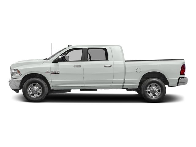 Bright White Clearcoat 2017 Ram Truck 2500 Pictures 2500 Mega Cab SLT 4WD photos side view