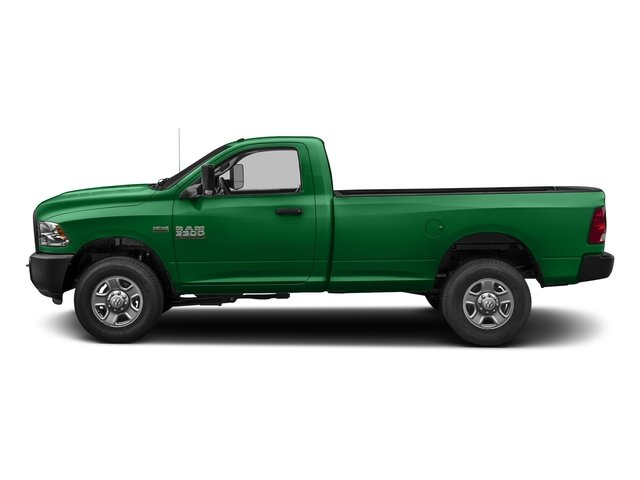 Bright Green 2017 Ram Truck 3500 Pictures 3500 SLT 4x4 Reg Cab 8' Box photos side view