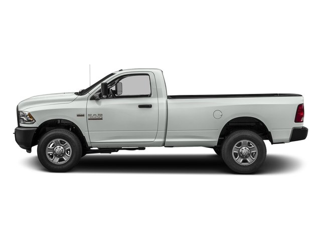 Bright White Clearcoat 2017 Ram Truck 3500 Pictures 3500 Regular Cab SLT 2WD photos side view